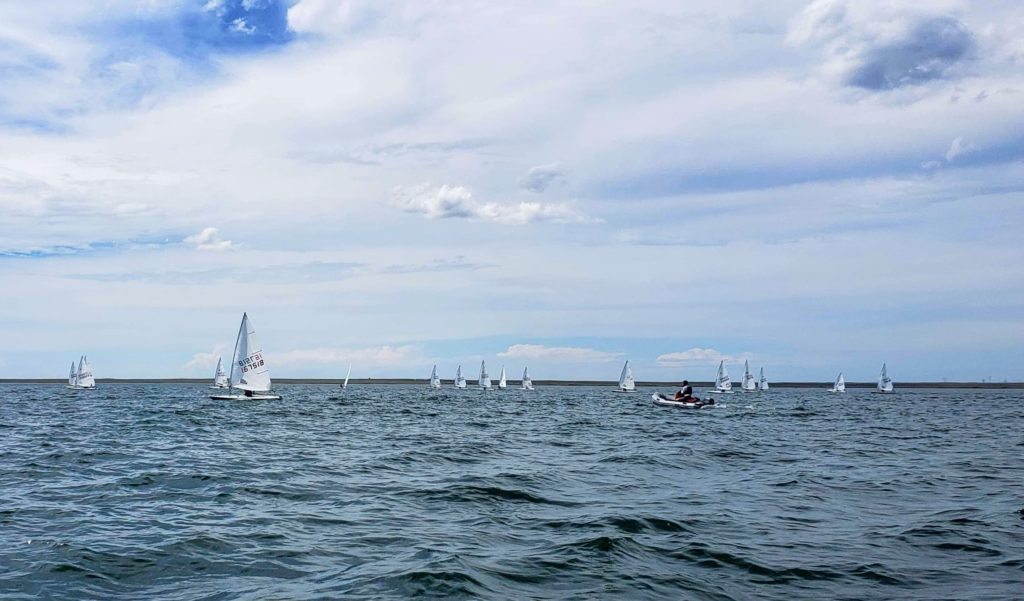 Laser Sailboats at the 2019 Newell Sailing Club regatta